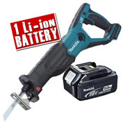 Makita DJR181Z5 Makita Li-ion 18v Recip Saw body + 1 x 5.0Ah Battery