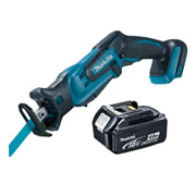 Makita DJR185Z4 Makita Li-ion 18v Reciprocating Saw Body + 4.0Ah Battery