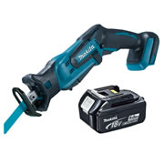 Makita DJR185Z5 Makita Li-ion 18v Reciprocating Saw Body + 5.0Ah Battery