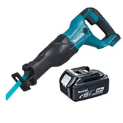 Makita DJR186Z4 Makita Li-ion 18v Reciprocating Saw Body + 1 x 4.0Ah Battery