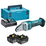 Makita DJS161RMJ 18v LXT Straight Shear with 2 x 4Ah Batteries, Charger and Case