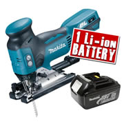 Makita DJV181Z3 Makita 18v LXT Li-ion Brushless Jigsaw Body + 1 x 3.0Ah Battery