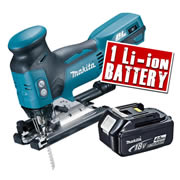 Makita DJV181-Z4 Makita 18v LXT Li-ion Brushless Jigsaw Body + 1 x 4.0Ah Battery