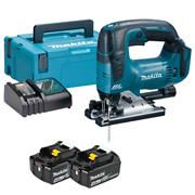 Makita DJV182RMJ 18v LXT Brushless Jigsaw with 2 x 4Ah Batteries, Charger and Case
