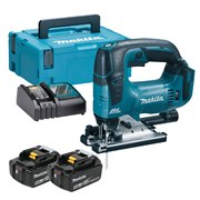 Makita DJV182RTJ Makita DJV182RTJ 18V LXT Brushless Jigsaw with 2 x 5Ah Batteries, Charger and Case