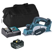 Makita DKP180ITS 18v LXT Planer with 1 x 3Ah Battery, Charger and Bag