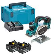Makita DKP180RMJ 18v LXT Planer with 2 x 4Ah Batteries, Charger and Case