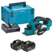 Makita DKP181RTJ 18v LXT Brushless Planer with 2 x 5Ah Batteries, Charger and Case