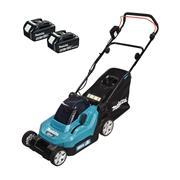 Makita DLM382CT2 Makita DLM382CT2 Cordless 38cm Lawnmower with 2x 5Ah Batteries