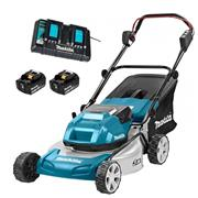 Makita DLM460PT2 46cm 18v x 2 Brushless Lawn Mower Kit