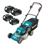 Makita DLM460PT4 Makita DLM460PT4 36V (Twin 18V) LXT Cordless 46cm Lawnmower With 4x 5Ah Batteries