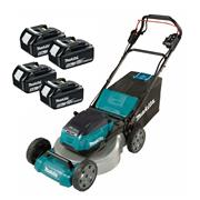 Makita DLM462PT4 Makita DLM462PT4 Cordless 46cm Lawnmower With 4x 5Ah Batteries