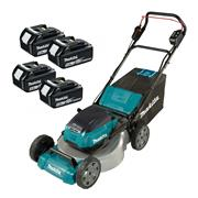 Makita DLM530PT4 Makita DLM530PT4 36V (Twin 18V) LXT Cordless 53cm Lawnmower With 4x 5Ah Batteries