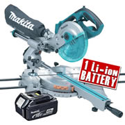 Makita DLS713-Z4 Makita 18V Li-ion Cordless Mitre Saw Body + 1 x 4.0Ah Battery