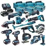 Makita DLX1000RJ Brushed 10 Piece Kit
