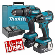 Makita DLX2002M Makita 18v Lithium-ion 4.0Ah Brushless 2 Piece Kit