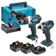Makita DLX2005MAJ Makita 18v Li-ion 2 Piece Kit