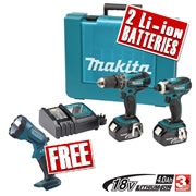 Makita DLX2012MX Makita 18v Lithium-ion 2 Piece 4.0Ah Kit