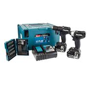 Makita DLX2018BK Makita 18v Li-ion Cordless Brushless Black 2 Piece Kit