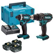 Makita DLX2131JX1 18v LXT 2 Piece Kit with 3 x 3Ah Batteries, Charger and Case