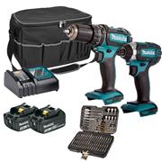 Makita DLX2131PACK 18v LXT 2 Piece Kit with 2 x 3Ah Batteries, Charger, Bag and Accessories