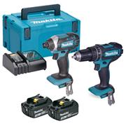 Makita DLX2131RJ Makita DLX2131RJ 18V LXT 2 Piece Kit with x 3Ah Batteries, Charger and Case