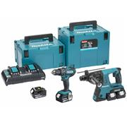 Makita DLX2137PMJ Makita DLX2137PTJ 18v LXT 2 Piece Kit with 2 x 5Ah Batteries, Charger and Case