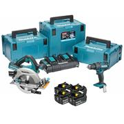 Makita DLX2140PMJ 36v (Twin 18v) LXT 3 Piece Kit with 4 x 4Ah Batteries, Dual Charger and 3 x Cases