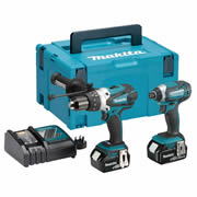 Makita DLX2145RJ 18v LXT 2 Piece Kit with 2 x 3Ah Batteries, Charger and Case