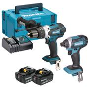 Makita DLX2145TJ Makita 18v Li-ion 5.0Ah 2 Piece Kit