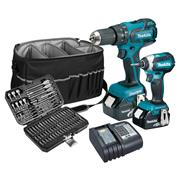 Makita DLX2173PACK 18v LXT Twin Pack with 2 x 4Ah Batteries, Charger, Bag and Accessory Set