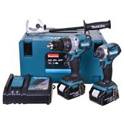 Makita DLX2176MJ 18v LXT Brushless 2 Piece Kit with 2 x 4Ah Batteries, Charger and Case