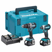 Makita DLX2180MJ Makita 18v Li-ion 4.0Ah Brushless 2 Piece Kit