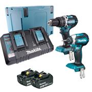 Makita DLX2180PRJ Brushless Twinpack 2 x 3Ah & Dual Port Charger
