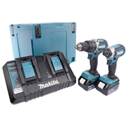 Makita DLX2180PTJ Brushless 2 Piece Kit (2 x 5ah & Dual Port Charger)