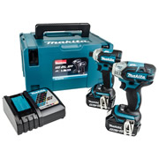 Makita DLX2211TJ 18v LXT Brushless 2 Piece Kit with 2 x 5Ah Batteries, Charger and Case