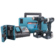 Makita DLX2221B2T 18v Li-ion Brushless Cordless Black Two Piece Kit