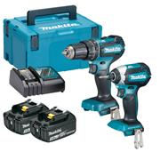 Makita DLX2283RJ 18v LXT Brushless 2 Piece Kit with 2 x 3Ah Batteries, Charger and Case