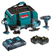 Makita DLX4051PM1 18v LXT 4 Piece Kit with 3 x 4Ah Batteries, Dual Charger and Bag