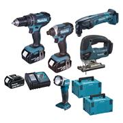 Makita DLX5000RJ 5 Piece Brushed Kit