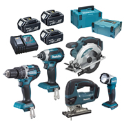 Makita DLX5100TJ Brushless 5 Piece Kit