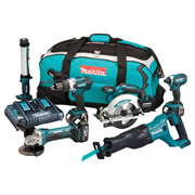 Makita DLX6044PT 18v LXT 6 Piece Kit with 3 x 5Ah Batteries, Charger and Bag