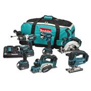 Makita DLX6067PT 18v LXT 6 Piece Kit with 3x 5Ah Batteries, Dual Charger and Bag