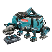 Makita DLX6068PT 18v Li-ion Cordless 6 Piece Tool Kit