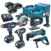 Makita DLX7000RJ Brushed 7 Piece Kit