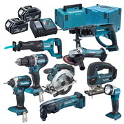 Makita DLX9000RJ Brushed 7 Piece Kit