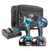 Makita DLXRJTJ Makita 18v Li-ion 2 Piece Kit with 1x 3.0Ah Battery & 1x 5.0Ah Battery