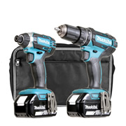 Makita DLXTJ Makita 18v Li-ion 5.0Ah 2 Piece Kit