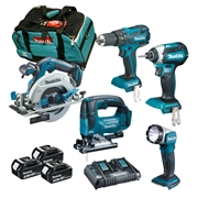 Makita DLXTOP5 5 Piece Brushless Kit