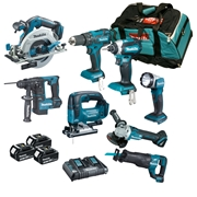 Makita DLXTOP8 8 Piece 18v Li-ion Brushless Kit